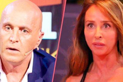 María Patiño no se corta y califica de 'cínico' a Kiko Matamoros, que responde tirándole un beso