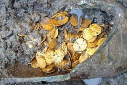 Tesoro en Italia: encontraron cientos de monedas de oro del Imperio Romano