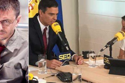 Juan Carlos Monedero reniega de la SER por socialista e invita a la audiencia podemita a sintonizar con la recién asaltada RNE