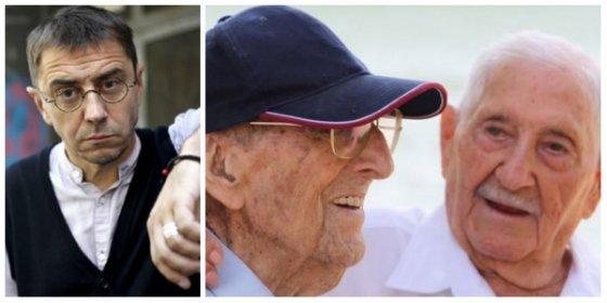 Un tuitero le cierra la boca a Monedero con un zasca sobre el vídeo de los ancianos de la Guerra del 36