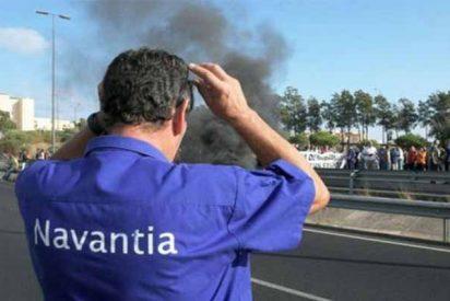 """Los trabajadores de Navantia: """"No nos fiamos del Gobierno Sánchez ni de lo que promete ahora la ministra"""""""