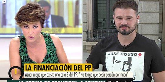 Mucho ojo: el que cobra de los españoles mientras les desprecia, dice que es Aznar quien les insulta...