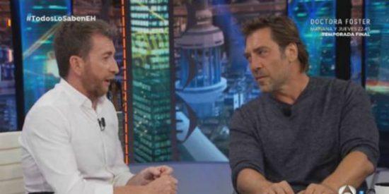 La pataleta de Javier Bardem contra el PP y Montoro en 'El Hormiguero'