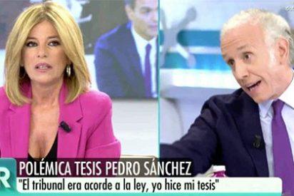 """Terrible chorreo de Inda a Palomera por defender de forma pésima al 'Doctor' Sánchez: """"¿Y dónde estabas tú?"""""""