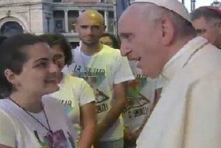"""Francisco invita a los jóvenes a ser """"hombres y mujeres verdaderos que aman a los más débiles"""""""