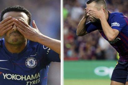 El significado de este gesto de Pedro y Jordi Alba en la celebración de sus goles desata la polémica