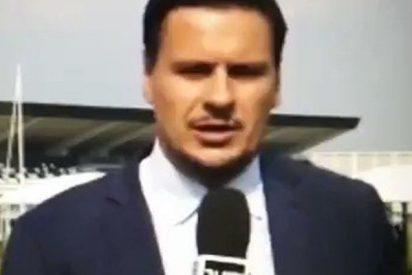 Mira cómo se burla CR7 de este periodista de Juventus TV a sus espaldas