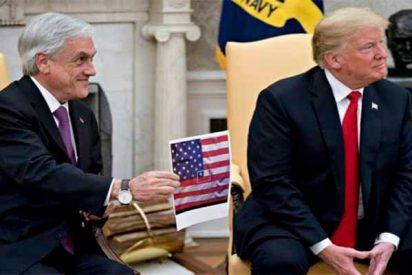 La embarrada del presidente Sebastián Piñera en su visita a Trump y que se hizo viral en las redes