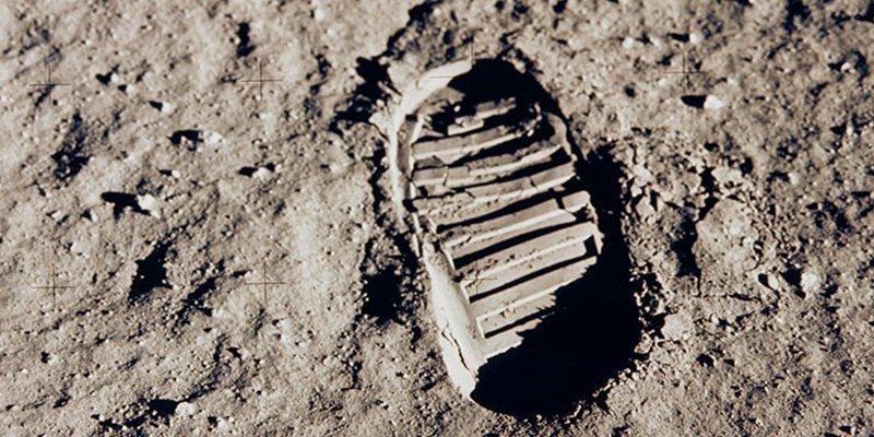 Así se dejó la huella humana en la Luna