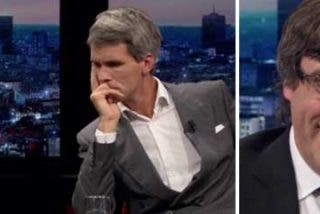 """Un periodista belga acorrala a Puigdemont en TV: """"Si tuviera dignidad, debería volver a Cataluña"""""""