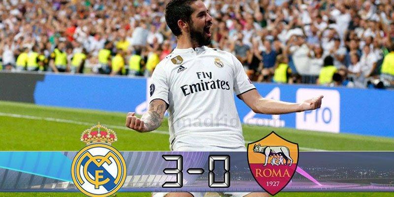 El Real Madrid le pega un buen repaso a la Roma