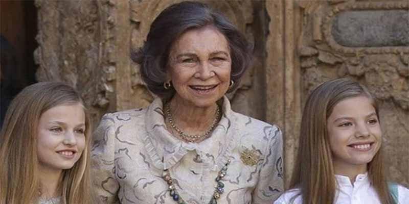 La pillada in fraganti de la Reina Sofía con su nieta que