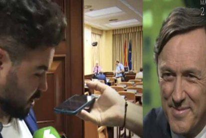 """Rafael Hernando: """"Rufián es un buen chaval al que de pequeño robaban el bocadillo y daban collejas"""""""