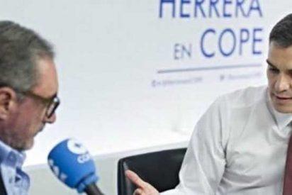 Maniobra del 'rabioso' Sánchez: no denuncia a Okdiario ni a ABC y quiere cargarse a Carlos Herrera