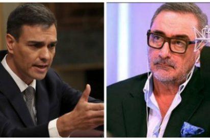 Carlos Herrera destroza en un soberbio editorial las absurdas e inoperantes medidas del 'okupa' Sánchez