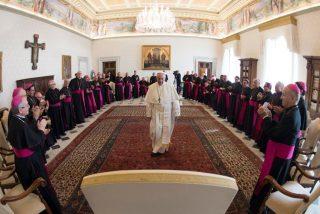 Los obispos de Ecuador, con el Papa