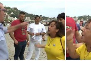 """El vía crucis del valiente empresario por quitar lazos amarillos: """"Cerdo, vete a tu puta España"""""""