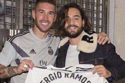 Todos comentan el mismo detalle de esta foto de Sergio Ramos con Maluma