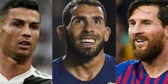 ¿Sabes qué opina Tévez sobre CR7 y Messi?