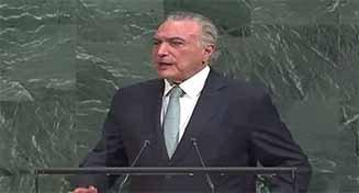 Michel Temer abordó la crisis de Venezuela en la apertura del 73º período de sesiones de la ONU