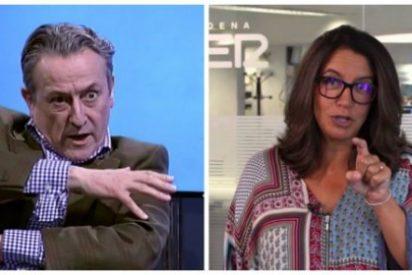 Tertsch hace trizas la indisimulada rabia de la podemita Ángels Barceló ante el palo de Aznar a Iglesias