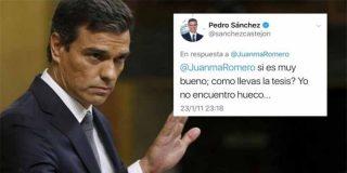 La nueva nota que le ha puesto al cantamañanas de Pedro Sánchez la directora de su tesis