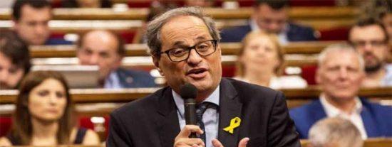 El xenófobo Torra muerde la mano que le tiende el socialista Pedro Sánchez