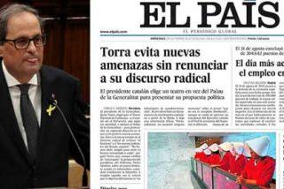 Los depurados por Gallego-Díaz consideran un timo el titular de El País que oculta la realidad golpista de Torra