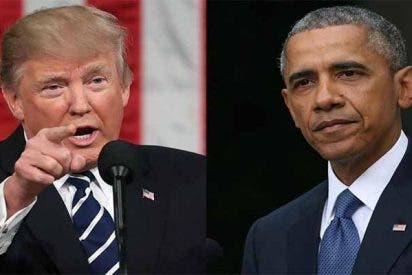 """La réplica de Trump al crítico discurso de Obama: """"Me quedé dormido viéndolo"""""""