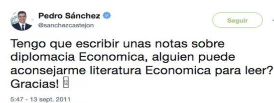 ¿A la vista de este antiguo tuit no se le cae a Pedro Sánchez la cara de vergüenza?