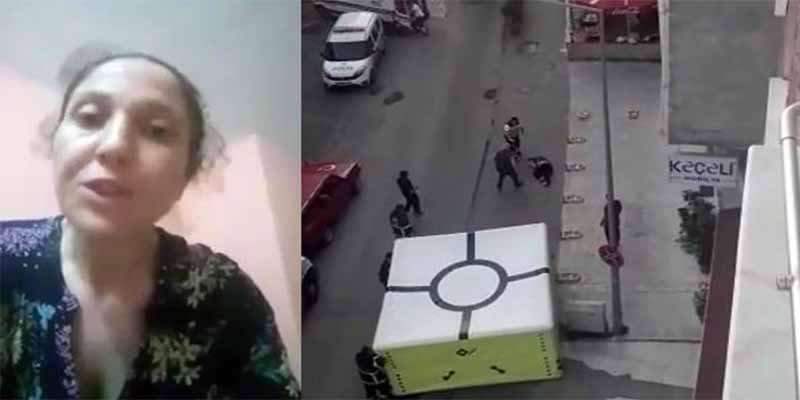 El instante en el que esta madre se suicida saltando desde lo alto de un edificio