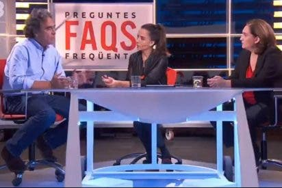 TV3 se niega a hablar en español con un exalcalde colombiano ¡y Colau tiene que hacer de traductora!