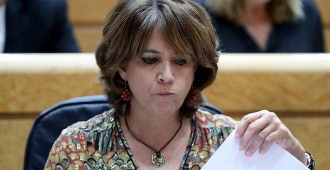 El corte de digestión de la ministra Dolores Delgado al conocer la decisión del Congreso