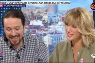 Ver para creer: Pablo Iglesias y Susanna Griso promocionado los porros en la tele