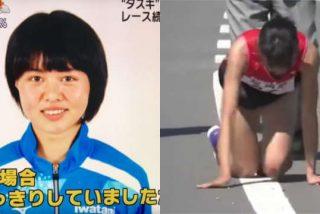 Rei Iida, la atleta que acabó a gatas un maratón por relevos tras fracturarse una pierna