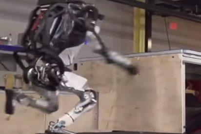 Este androide de Boston Dynamics salta varios obstáculos como un especialista de 'parkour'
