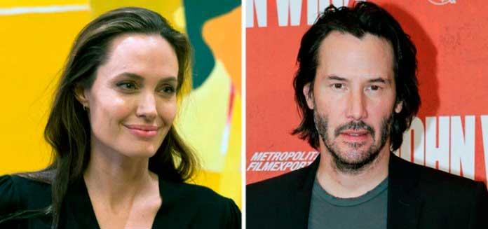 Angelina Jolie y Keanu Reeves llevarían más de un año saliendo juntos