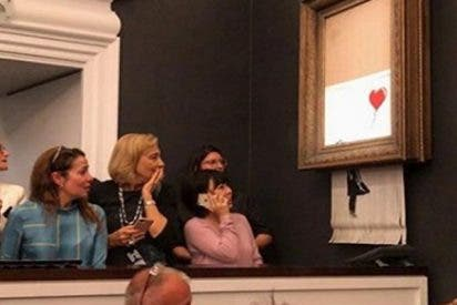 ¿Sabías que la autodestruida obra de arte de Banksy ahora vale más que la original?