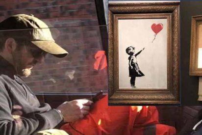 Banksy se cachondea del mercado del arte: vende un cuadro más de un millón y la obra se autodestruye nada mas cerrar el trato
