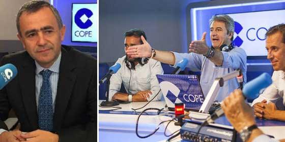 La cara de Barriocanal (COPE) cuando le preguntan por los anuncios de casas de apuestas en 'Tiempo de Juego'