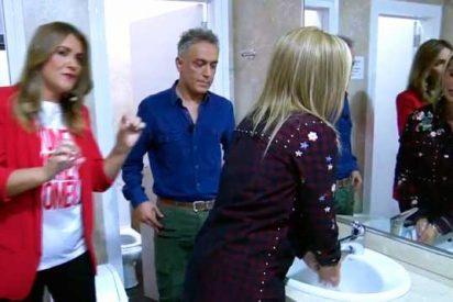 Telecinco emite el escatológico momento de Belén Esteban meando en directo