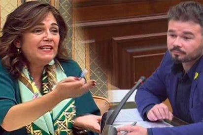 Las feministas de Podemos y PSOE se callan como p... tras el ataque machista de Rufián a una diputada del PP