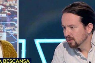 """El lacrimógeno papelón de la cobardica Bescansa suplicando a Griso que no abunde en su guerra con Pablo Iglesias: """"Yo le quiero mucho"""""""