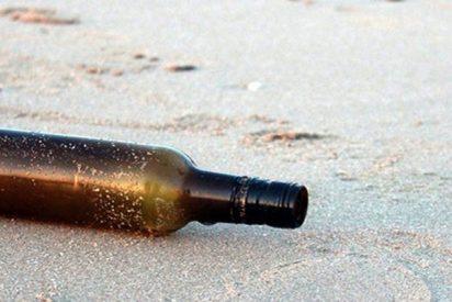 Aparece una botella con un enigmático mensaje y resuelven el misterio gracias a Facebook