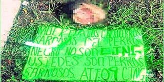 México macabro: los narcos dejan la cabeza de un taxista frente a un parque infantil