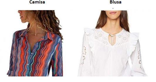 diferencia blusa y camisa