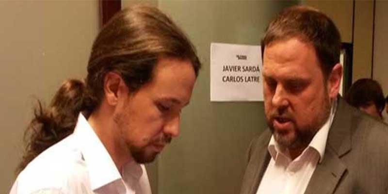 El golpista Junqueras negociará en la cárcel y con tiempo ilimitado los Presupuestos de España con Pablo Iglesias
