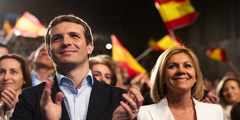 Pablo Casado aplicará en Cataluña un 155 'duro', incluyendo TV3, la educación y los Mossos
