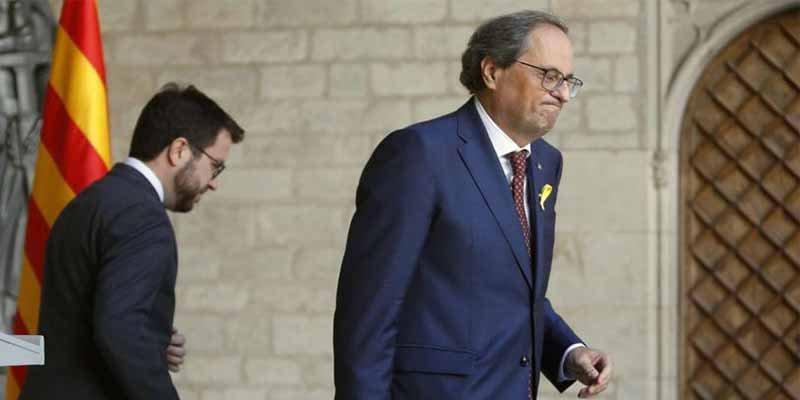 """Quim Torra: """"Presidente Sánchez, se le ha acabado el crédito"""""""