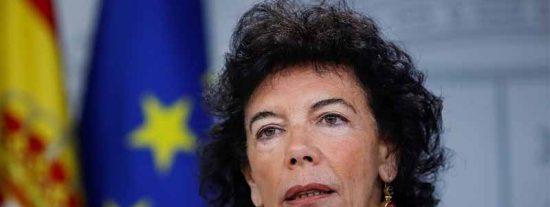 Celaá, la cara mentirosa de un Gobierno que ahora niega el manoseo judicial para beneficiar a los golpistas
